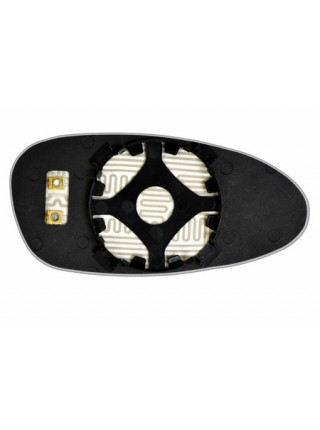 Элемент зеркала PORSCHE 911 2005-н вр левый сферический с обогревом 75910508