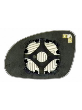 Элемент зеркала VOLKSWAGEN Jetta V 2005-н вр правый асферический с обогревом 93200500