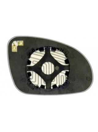 Элемент зеркала VOLKSWAGEN Golf V 2003-н вр левый сферический с обогревом 93300308