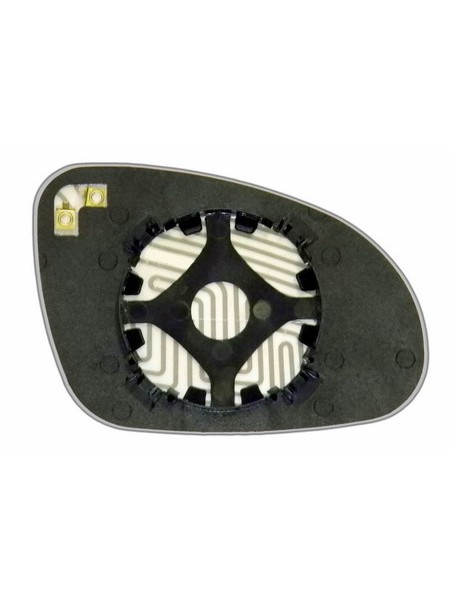 Элемент зеркала VOLKSWAGEN Passat B5 2001-н вр левый плоский с обогревом 93600107