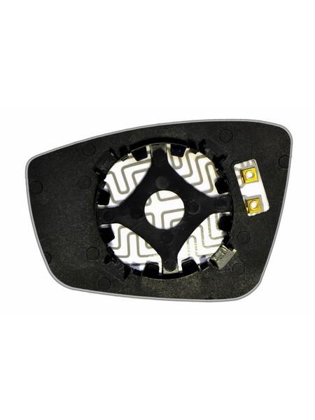 Элемент зеркала VOLKSWAGEN Polo V 2009-н вр правый сферический с обогревом 93640909