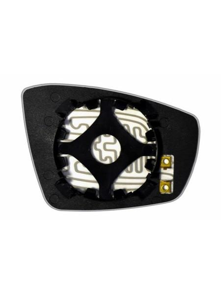 Элемент зеркала VOLKSWAGEN Polo V Coupe 2010-н вр левый асферический с обогревом 93641006